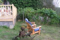 coin repos dans le jardin
